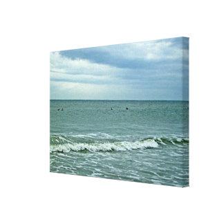 Día hermoso a lo largo de la isla del roble impresión en lona estirada