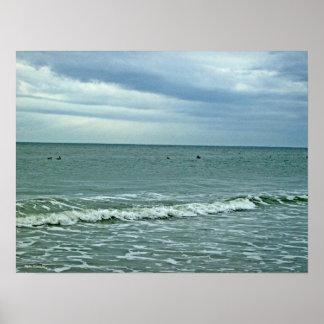 Día hermoso a lo largo de la isla del roble póster