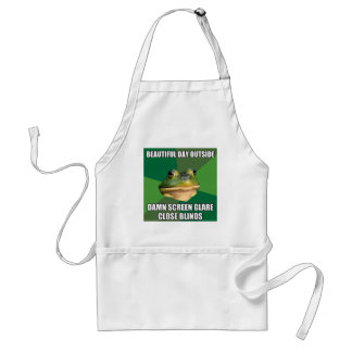 Día hermoso de la rana asquerosa del soltero delantal