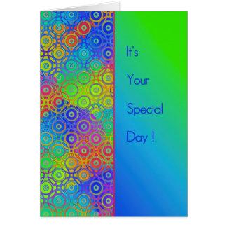 Día hermoso del Special del modelo de los círculos Tarjetas
