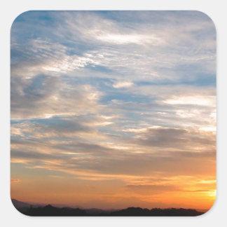 Día hermoso Jarenina Eslovenia del cielo Pegatina Cuadrada