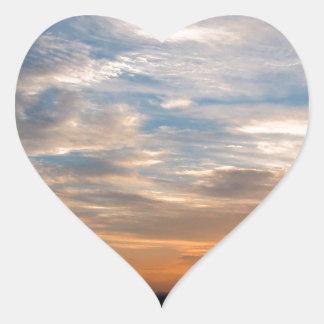 Día hermoso Jarenina Eslovenia del cielo Pegatina En Forma De Corazón