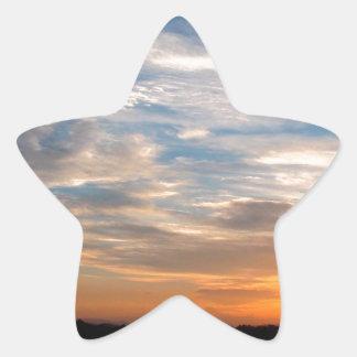 Día hermoso Jarenina Eslovenia del cielo Pegatina En Forma De Estrella