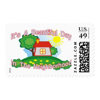 Día hermoso sello postal