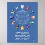 Día internacional 2014 de la heráldica poster