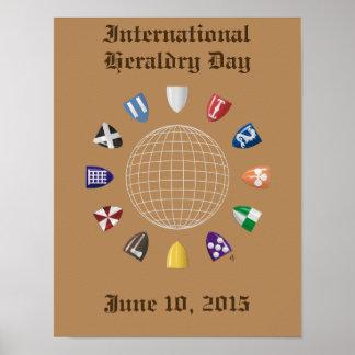 Día internacional 2015 de la heráldica póster