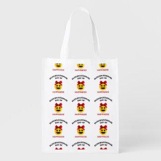 Día internacional de felicidad bolsas de la compra