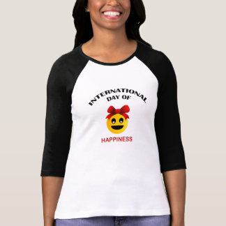 Día internacional de felicidad remeras