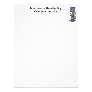 Día internacional de la heráldica plantillas de membrete