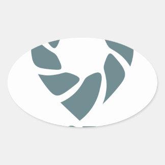 Día internacional del esfuerzo supremo - 19 de pegatina ovalada