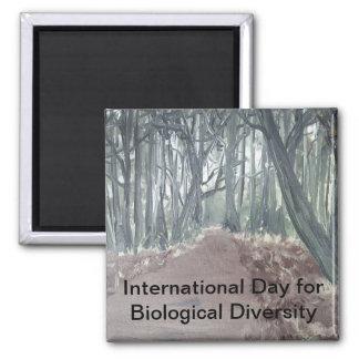 Día internacional para la diversidad biológica imán cuadrado