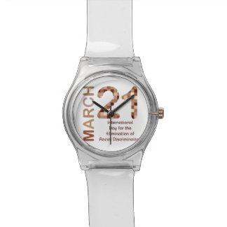 Día internacional para la eliminación del racismo relojes de pulsera