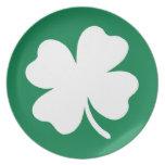 Día Irlanda del St Patricks del trébol Plato De Comida