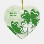 Día irlandés del St. Patricks del trébol del trébo Ornamentos Para Reyes Magos