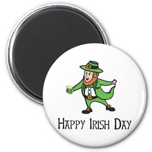 Día irlandés feliz iman para frigorífico