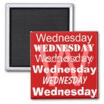 Día laboral de miércoles del imán de la semana