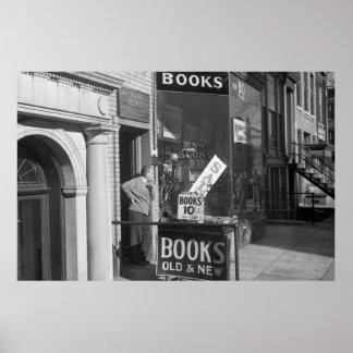 Día lento en el negocio del libro, los años 30 impresiones