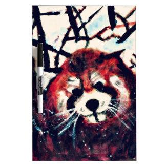 Día lindo de la nieve de la panda roja pizarra blanca