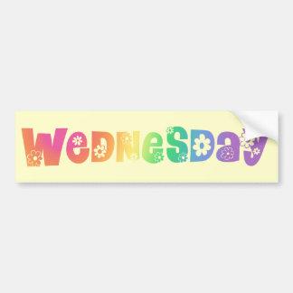 Día lindo de la semana miércoles pegatina para auto