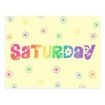 Día lindo de la semana sábado postal