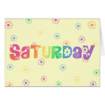 Día lindo de la semana sábado tarjetas