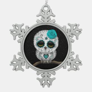Día lindo del trullo de las estrellas muertas del adorno de peltre en forma de copo de nieve