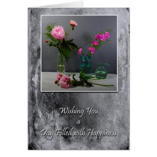 Día llenado de felicidad tarjeta de felicitación