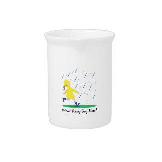 Día lluvioso Bllues Jarra Para Bebida