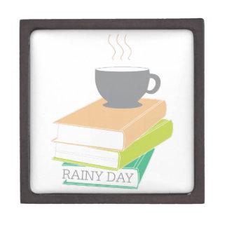 Día lluvioso cajas de recuerdo de calidad