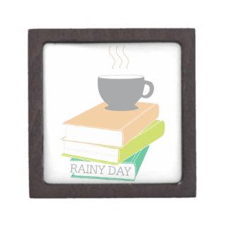 Día lluvioso caja de recuerdo de calidad