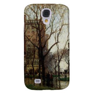 Día lluvioso, cuadrado de Madison, Nueva York Funda Para Samsung Galaxy S4