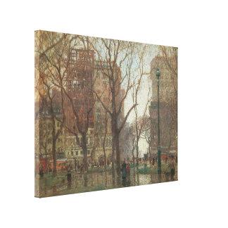 Día lluvioso, cuadrado de Madison, Nueva York, Impresión En Tela