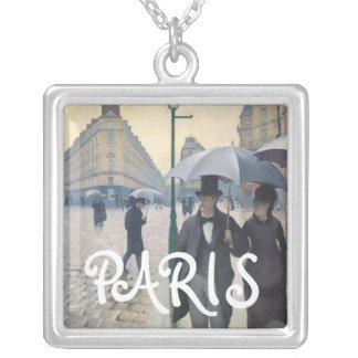 Día lluvioso de la calle de Gustave Caillebotte Pa Colgante Cuadrado