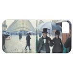 Día lluvioso de la calle de Gustave Caillebotte Pa iPhone 5 Case-Mate Cárcasas