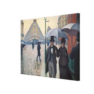 Día lluvioso de la calle de París de Gustave Caill Impresión En Lona