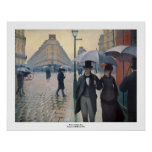 Día lluvioso de la calle de París de Gustave Caill Impresiones