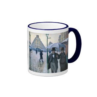 Día lluvioso de la calle de París de Gustave Caill Taza De Café