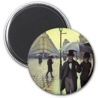 Día lluvioso de la calle de París de Gustave Imán Redondo 5 Cm