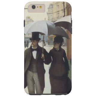 Día lluvioso de la calle de París Funda De iPhone 6 Plus Tough