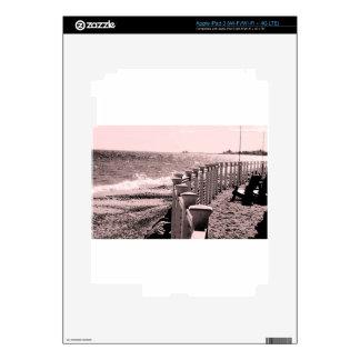 Día lluvioso de la playa iPad 3 skin