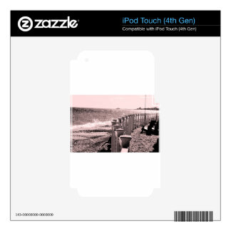 Día lluvioso de la playa iPod touch 4G skins