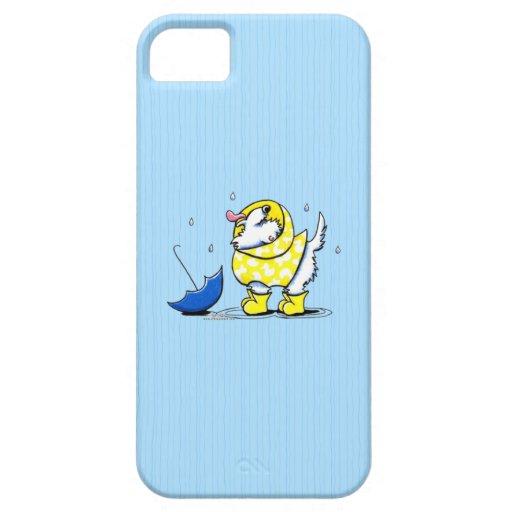 Día lluvioso de Westie iPhone 5 Funda