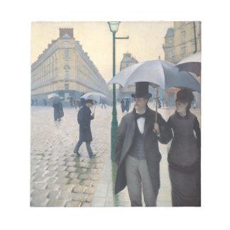 Día lluvioso del impresionismo de la calle blocs