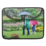 Día lluvioso en el jardín funda macbook pro
