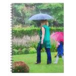 Día lluvioso en el jardín libro de apuntes