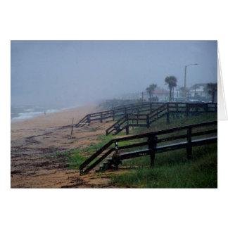 Día lluvioso en la playa la Florida de Flagler Tarjetón