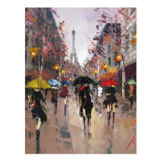 Día lluvioso en París Postales