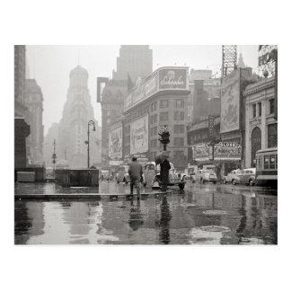Día lluvioso en Times Square, 1943 Postal
