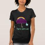 día lluvioso feliz camisetas