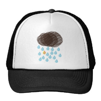 Día lluvioso Furball Gorras